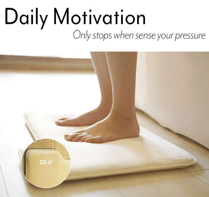 Mat/Rug Pressure Sensitive Alarm Clock
