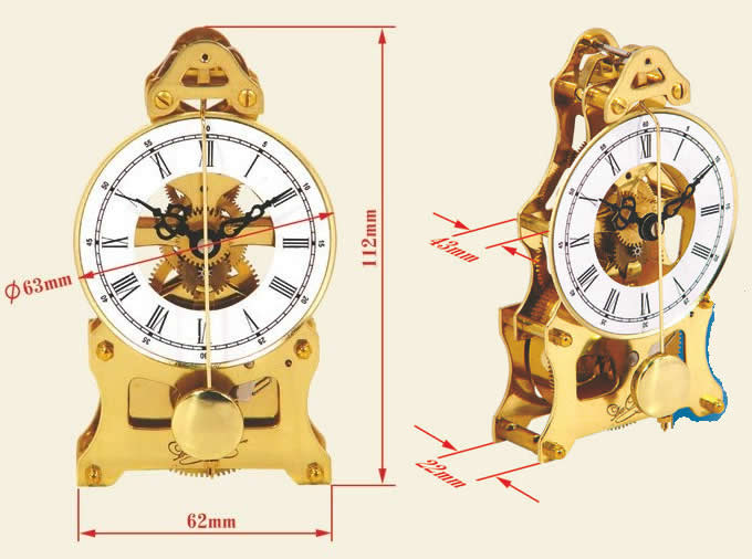 Metal Gear Desk Clock