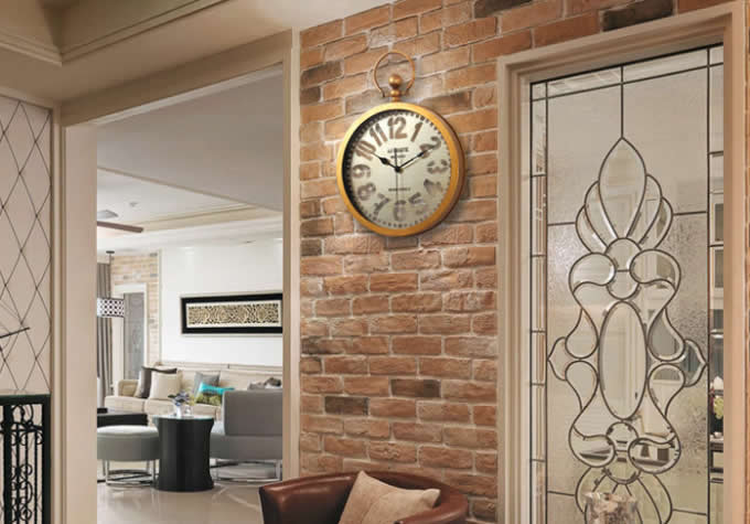 Metal Led Wall Clock with Top Handle