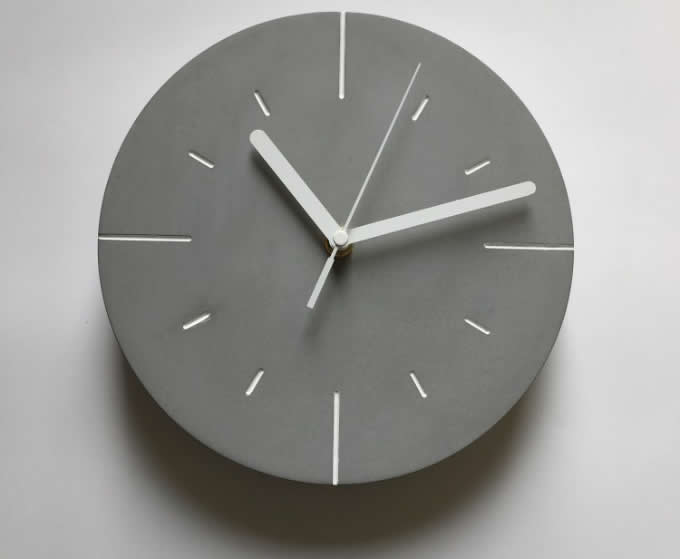 Modern Concrete Wall Clock Feelgift