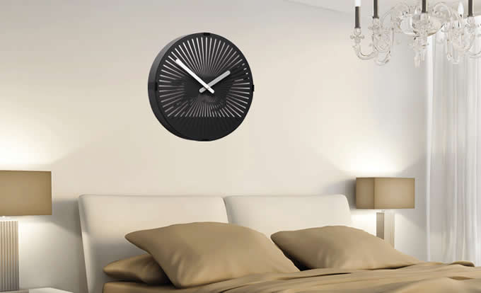 Motion Clock-Modern Black Large Big Atomic Analog Decorative Wall Clock