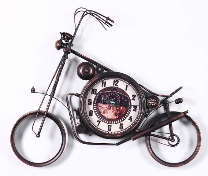 Motorcycle Wheel wall clock
