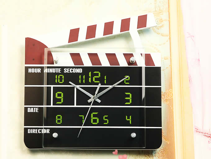 Movie Film Action Board Wal Clock
