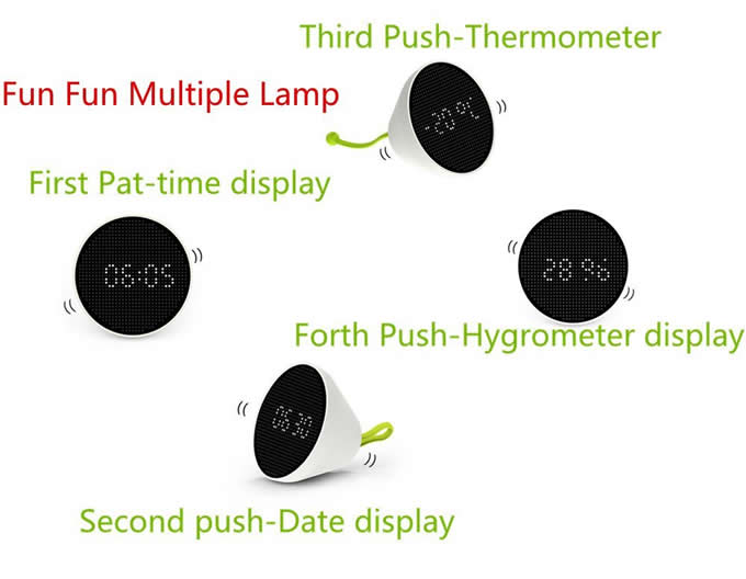 Multiple  LED Night Light Digital Alarm Clock