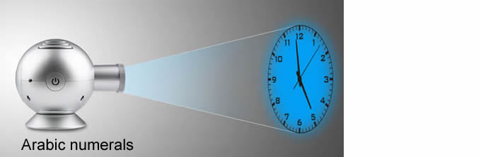 Overhead Rome Numeral Time Style Projection Wall Clock