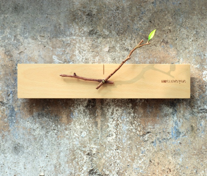 Plant Sprout Wall Clock