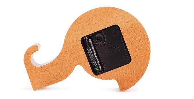 Question Mark Shaped Wooden Desk Clock Mobile Display Stand Holder