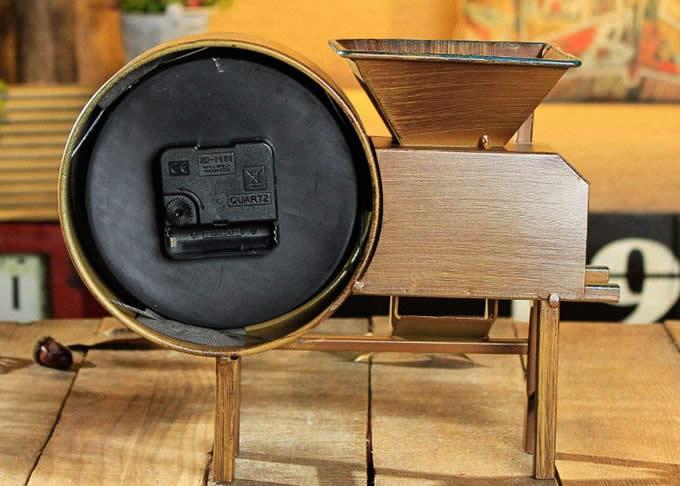 Retro Air Blower Shape Noiseless Desk Clock