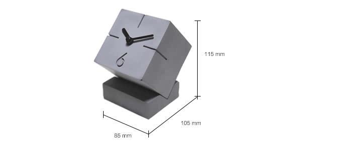 Vintage Concrete Cube Clock Retro Desktop Clock
