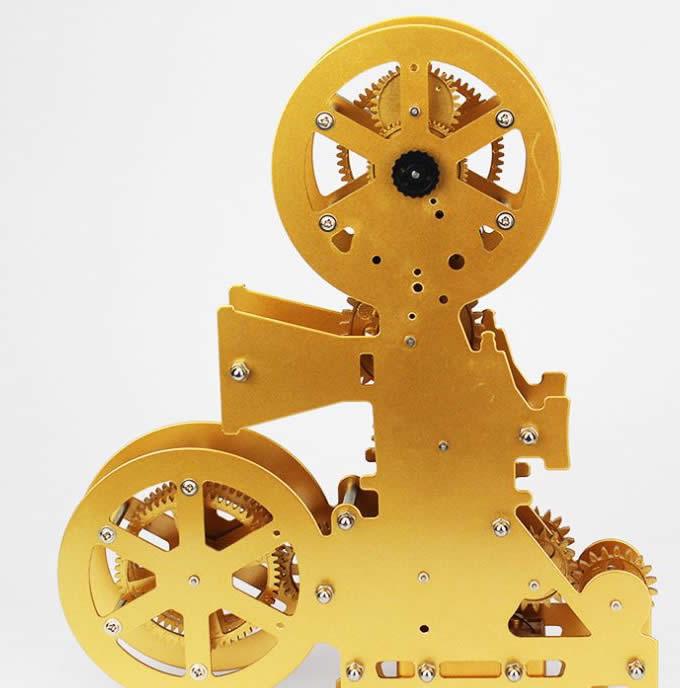 Vintage Film Movie Projector Tabletop Gear Clock