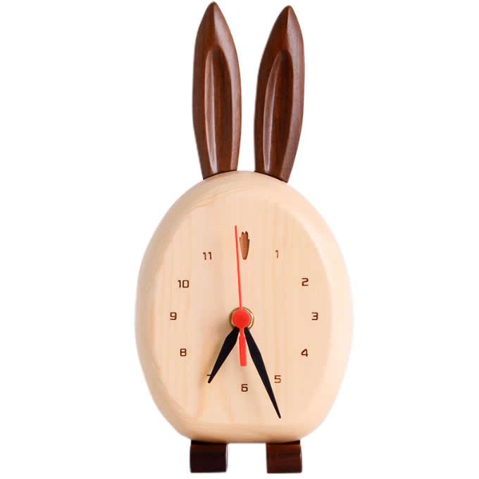Wood Animal Desk Clock