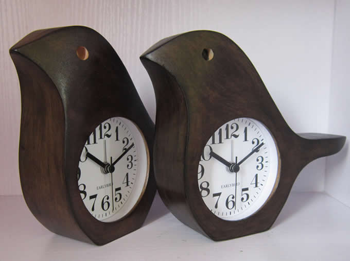 Wooden Bird Shaped Desk Alarm Clock3