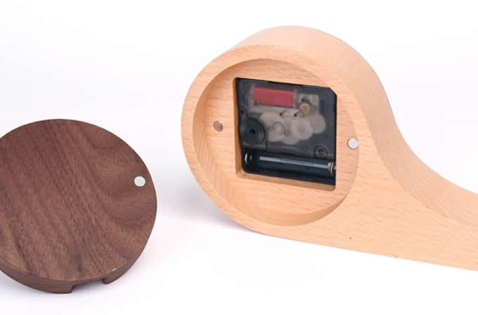 Wooden Snail  Desk Clock