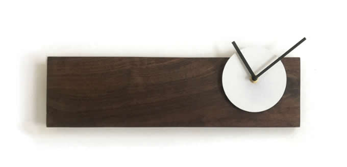Wooden Wall Clock With Led Lamp