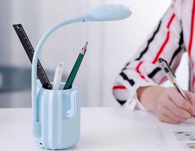 Cactus LED Desk Night Light Pen Holder