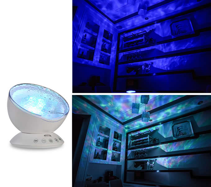 Colorful Mini Waves Night Light With Remote Control