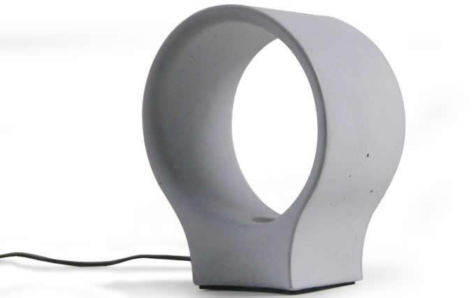 Concrete Finish USB Cement Table lamp