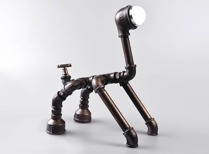 Creative Handmade Metal Table Lamp