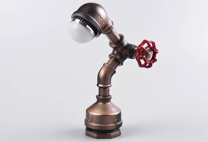 Handmade Metal Water Pipe Table Lamp Feelgift
