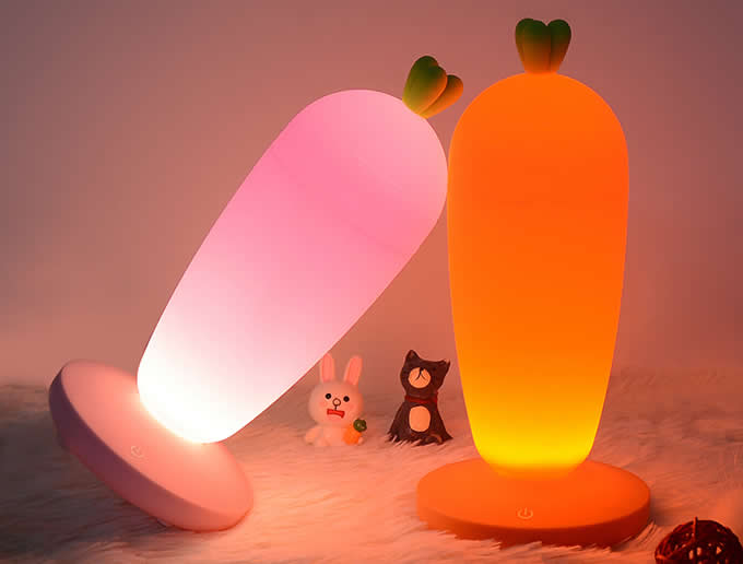 Cute Carrot Rechargeable Night Light