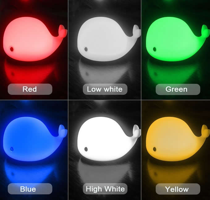 Cute Dolphin USB Rechargeable Children Night Light