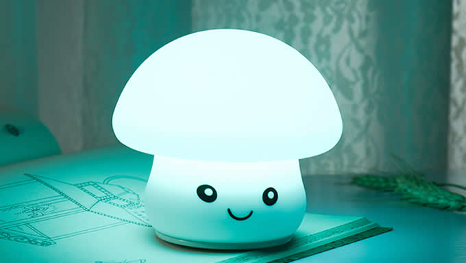Cute Mushroom USB Rechargeable Children Night Light