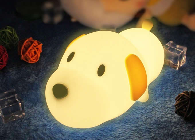 Cute Puppy Dog USB Rechargeable Children Night Light