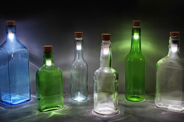 Glowing Led Bottle Cap Lamp