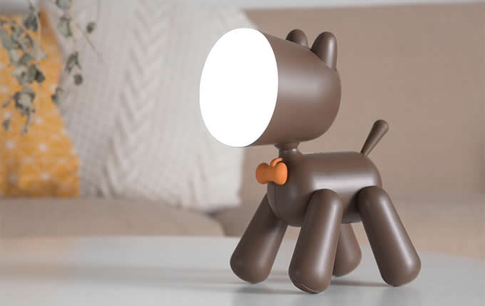 Lovely Dog Night Light Children Bedroom Decor LED Lamp