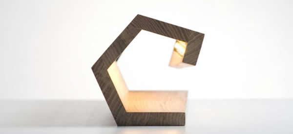 Modern Bamboo  Wooden USB Beside Desk Table Lamp