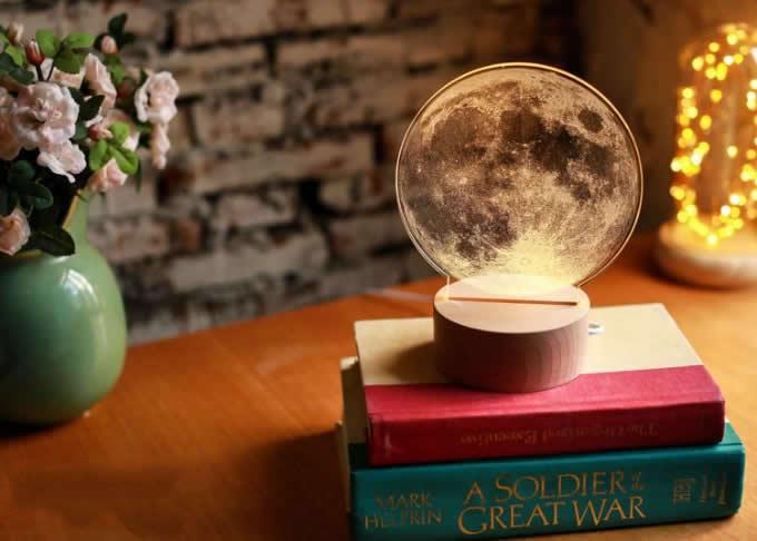 Optical Illusion 3D Moon Deco Light/LED Lamp/Night Light