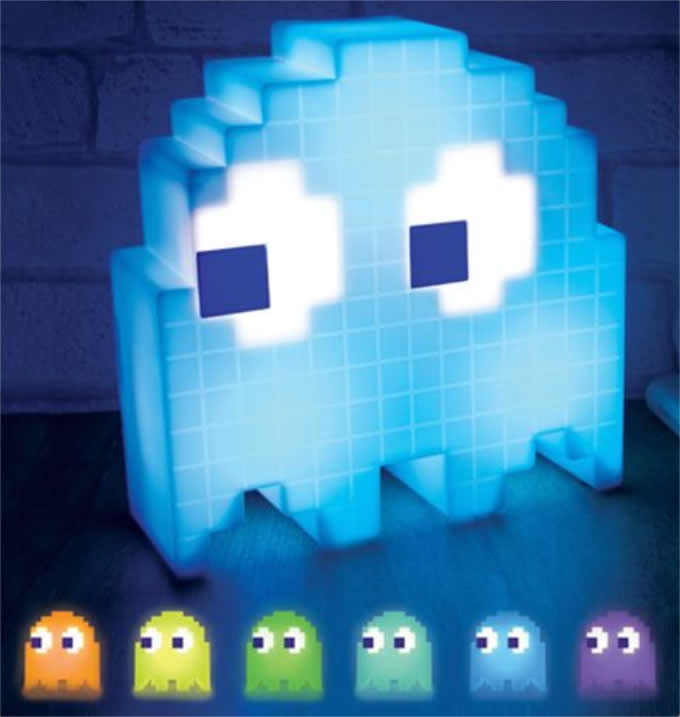 Pac Man Ghost Light USB Powered Multi-colored Lamp