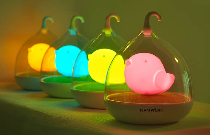 Portable Bird Rechargeable Led Night Light