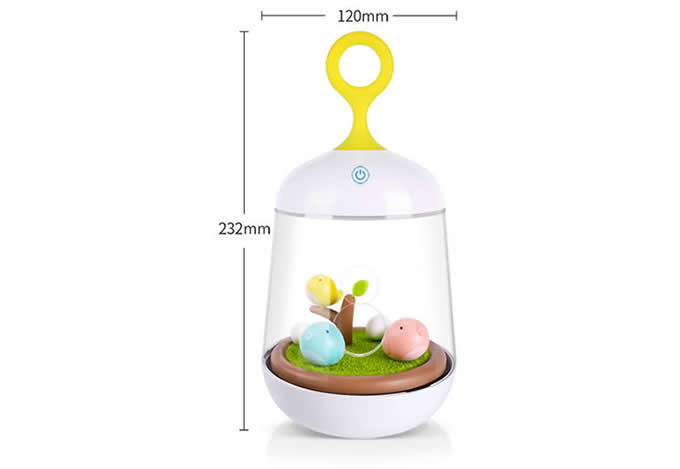 Portable Bird Rechargeable Colorful Led Night Light