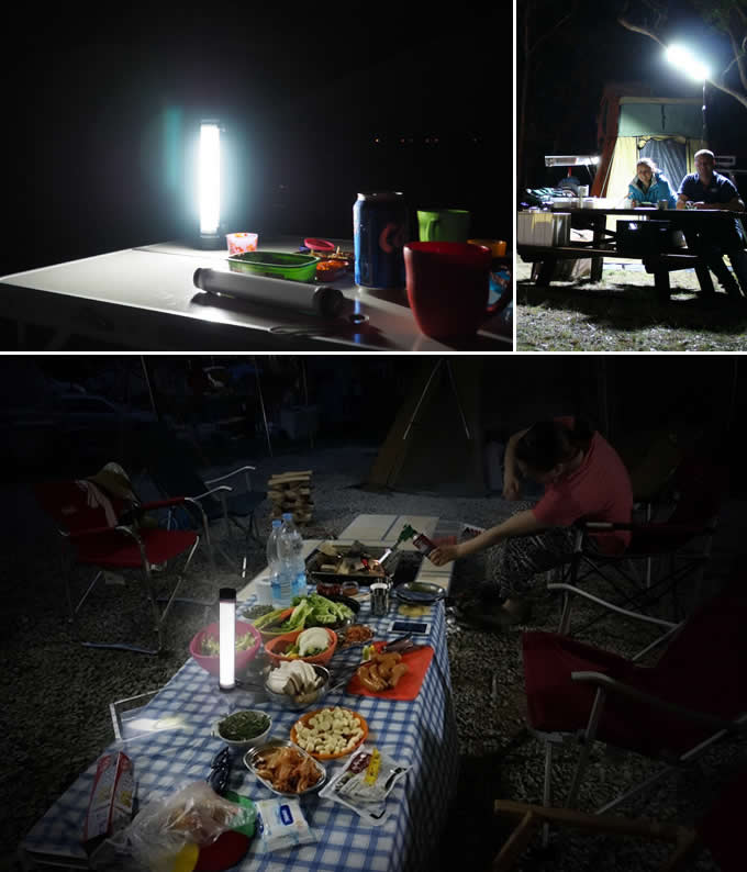 Portable USB Waterpoof Retractable Camping Light