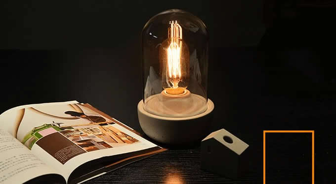 Retro Concrete Table Light Lamp Feelgift