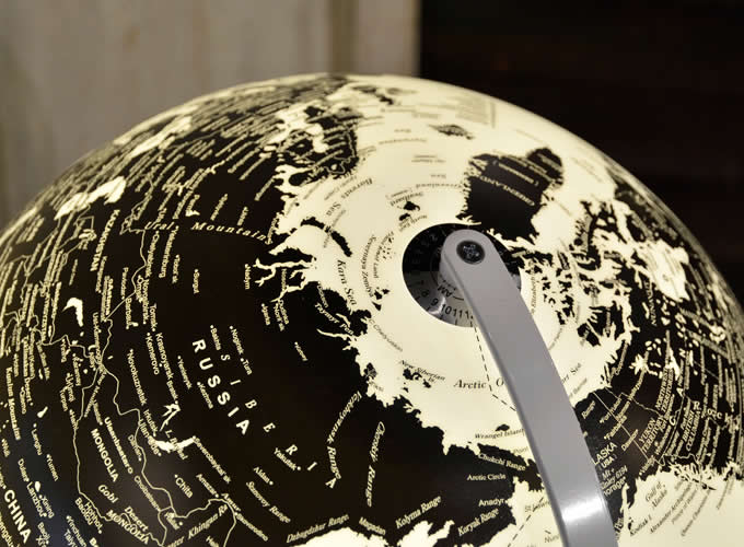 Rotating  LED  World Globe Table Lamp