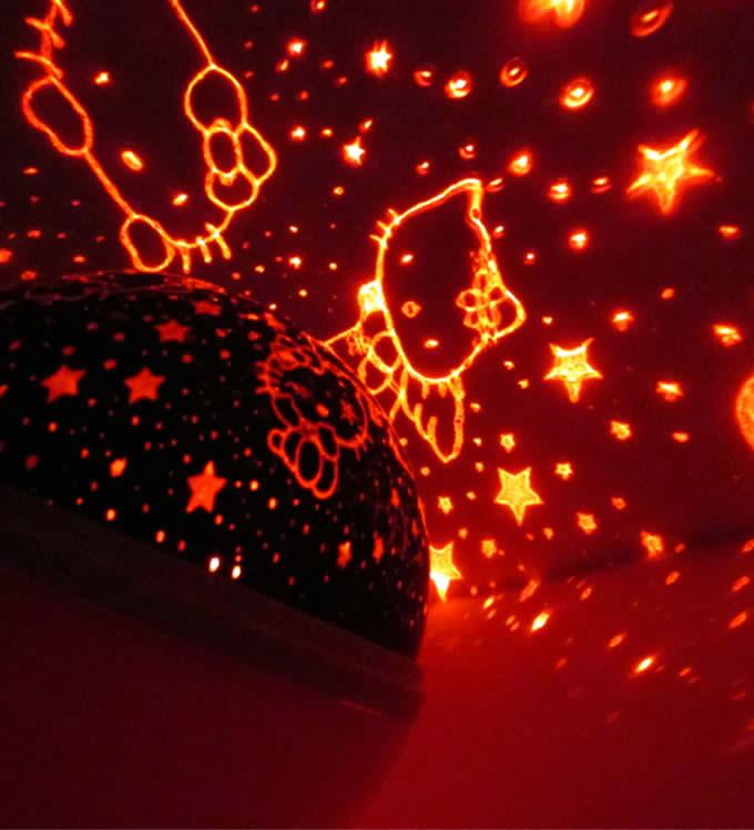 Rotating Romantic Cosmos Star projector