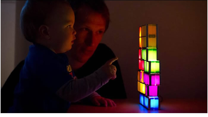 Tetris Stackable LED Desk Lamp Light - FeelGift
