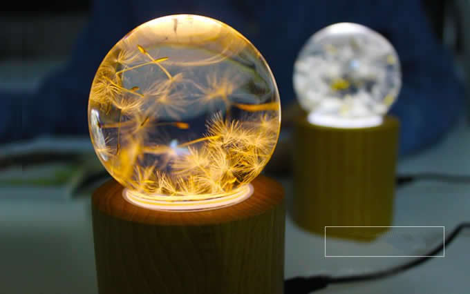 USB Dandelion Crystal Night light