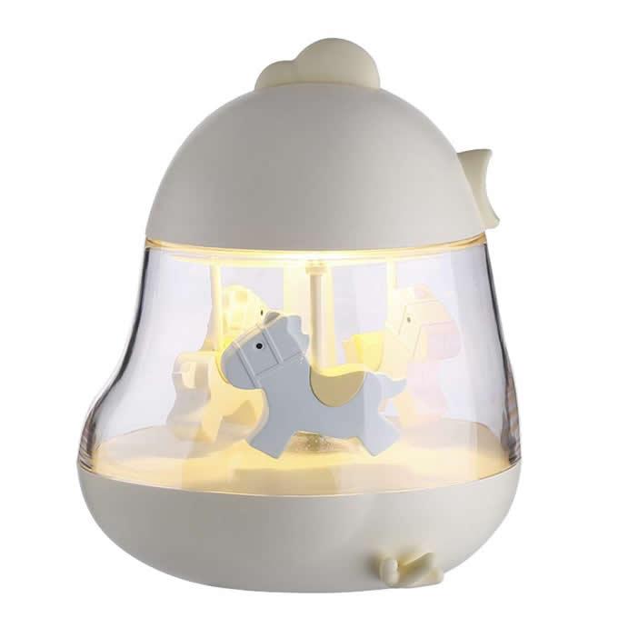 USB Merry-Go-Round Music Lamp Decor  Night Light