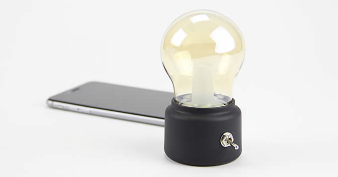 USB Rechargeable Bulb Desk Lamp with Base