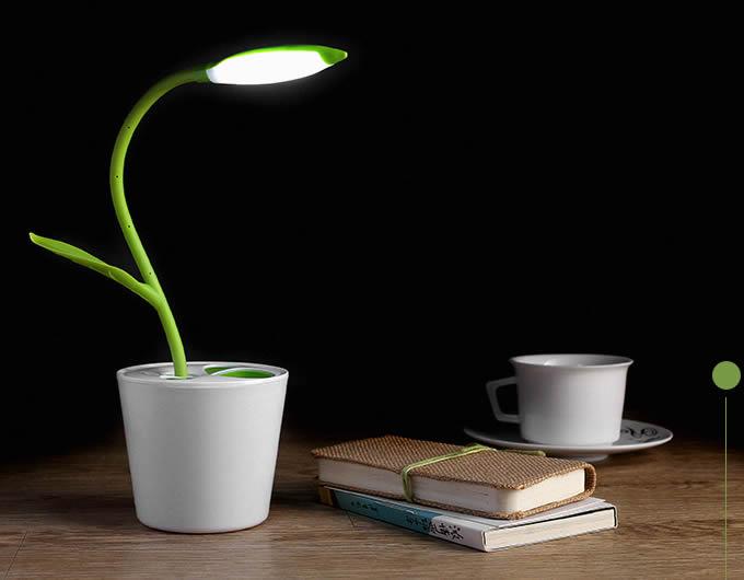 Usb Rechargeable Flower Pot Night Light Feelgift