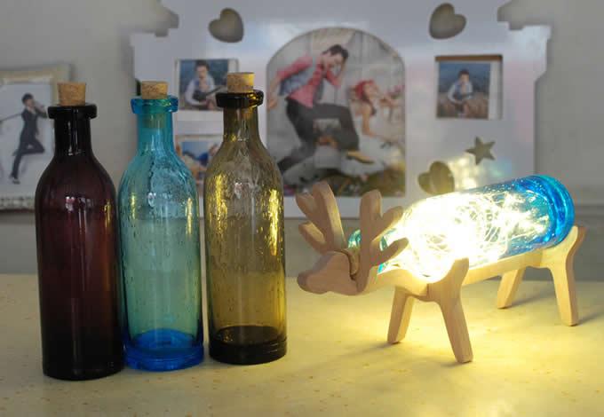 Winebottle table lamp feelgift winebottle table lamp aloadofball Choice Image