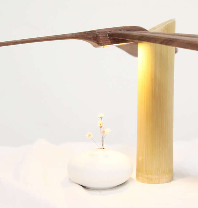 Handmade Wooden Dragonfly Balance Night Light