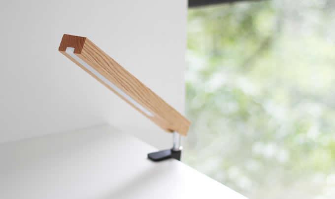 Wooden Led Reading Light Clip On Lamp