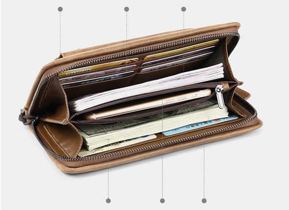 Classic leather handbag fashion mobile phone bag Large capacity cowhide wallet