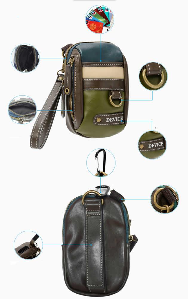 Classic outdoor travel mobile phone bag key card organization waist bag handbag