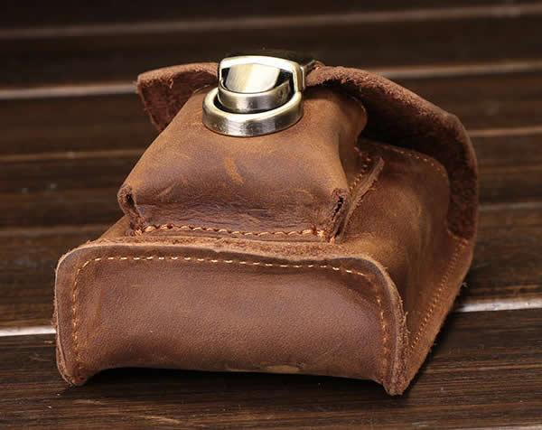 Classic vintage leather belt bag Cigarette bag