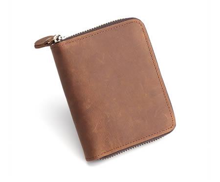 Vintage handmade premium cowhide leather wallet